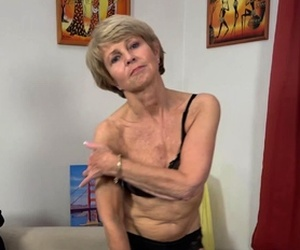 skinny old grandma first time on video