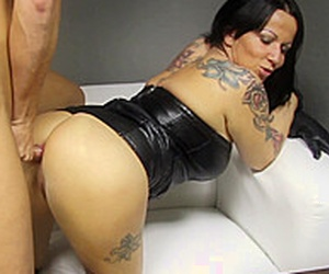 Anal Creampie Drip Sex From German Mom In Latex With Teen