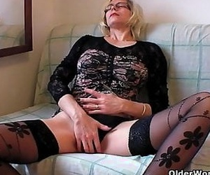 Granny, MILF, Mature, Self-fisting, Anal play, Hairy.