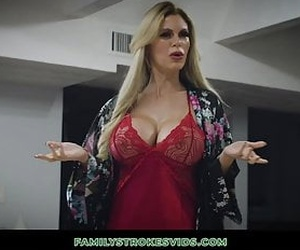 Casca Akashova comes home to her niece and nephew fooling around. Her nephew is using an hitachi on her niece so when she sees this, a threesome is on the way. This massive titty milf drills both of them.